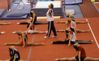 Image of a gymnastic training session